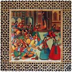 رومیزی مخمل مربع بزم ایرانی