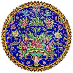 رومیزی پارچه ای گل افشان مخمل