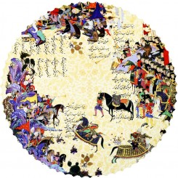 رومیزی گرد 2107
