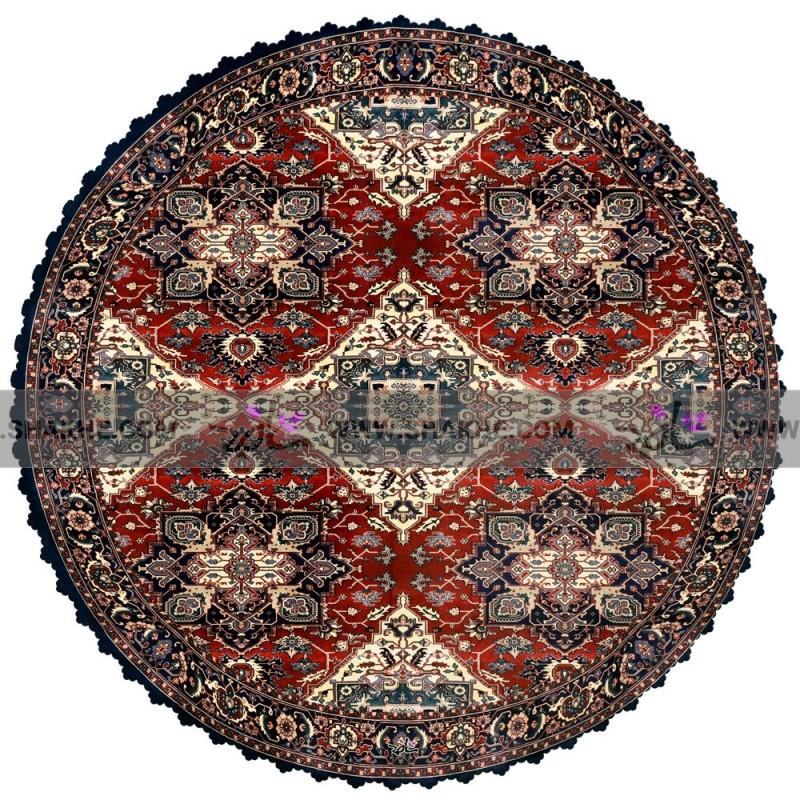 رومیزی گرد مخمل پارچه ای فرش چهارسو