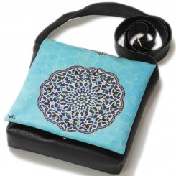 کیف چرمی خورجینی حوض نقاشی