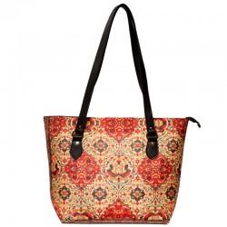 کیف دوشی زنانه طرح فرش بندی