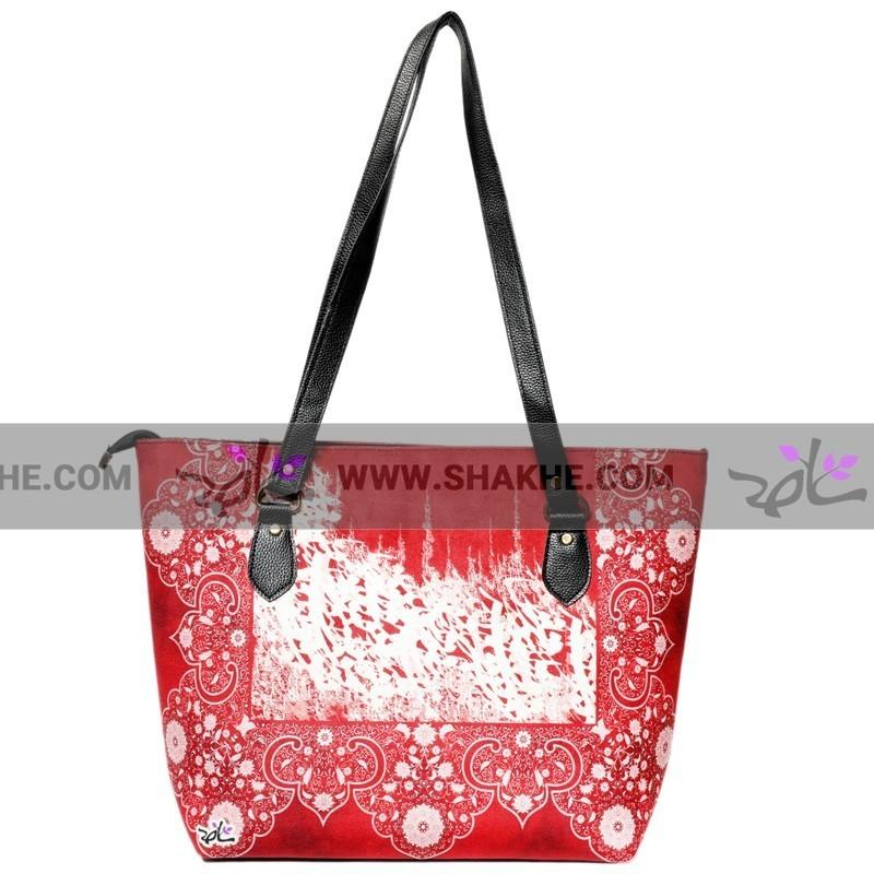 کیف دوشی زنانه مخمل قرمز