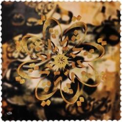 رومیزی مخمل مربع سنتی خط هیچ