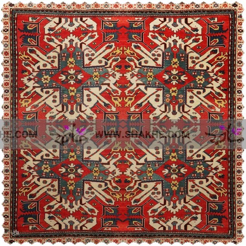 رومیزی مخمل مربع فرش ترنج