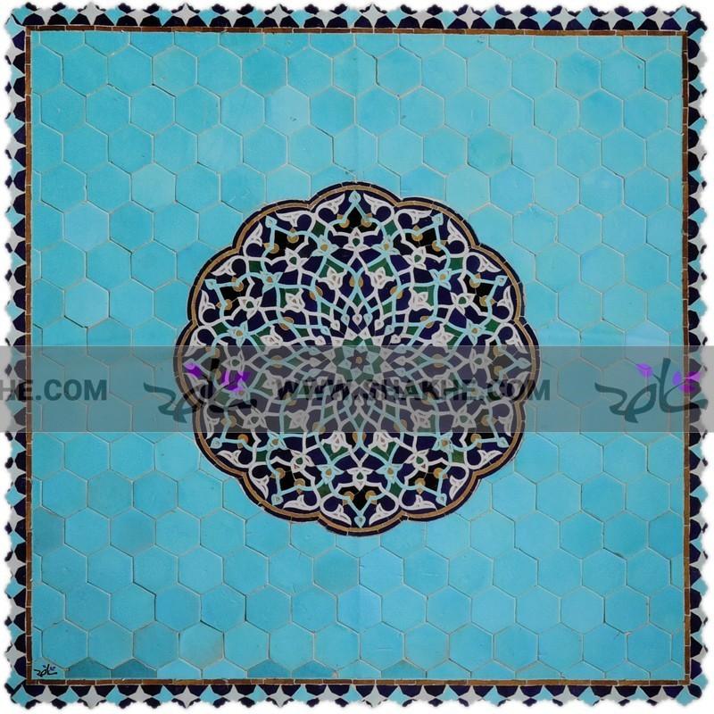 رومیزی مخمل مربع حوض نقاشی