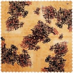 رومیزی مخمل مربع خط نقاشی