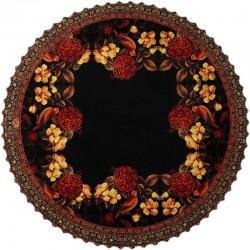 رومیزی سنتی مخمل گرد گل مرغ