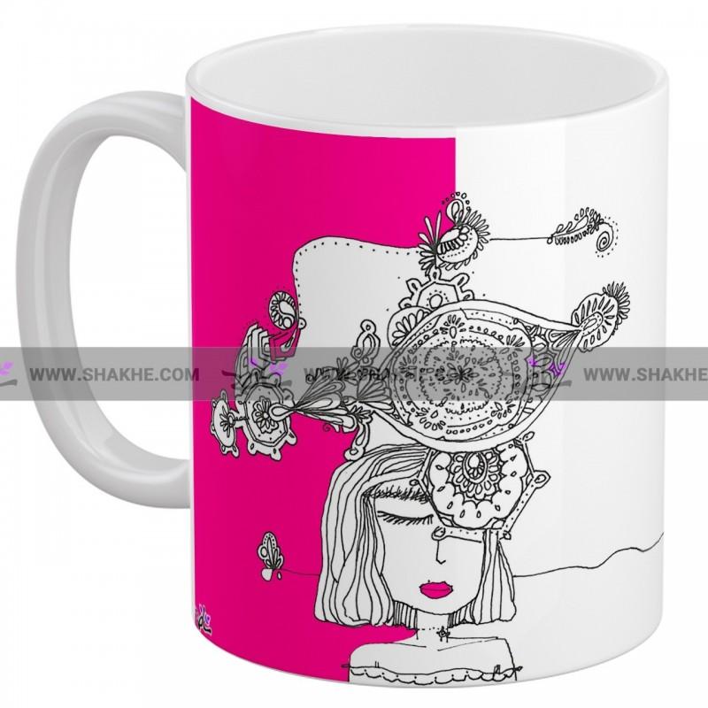 ماگ سرامیکی نقاشی کلک خیال