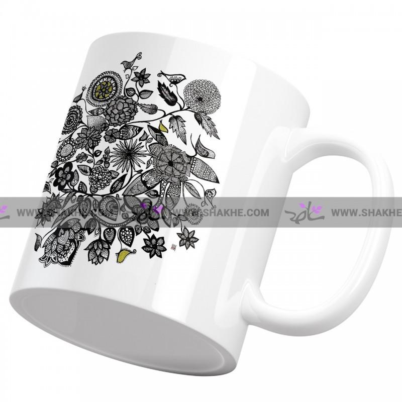 ماگ سرامیکی نقاشی باغچه خیال