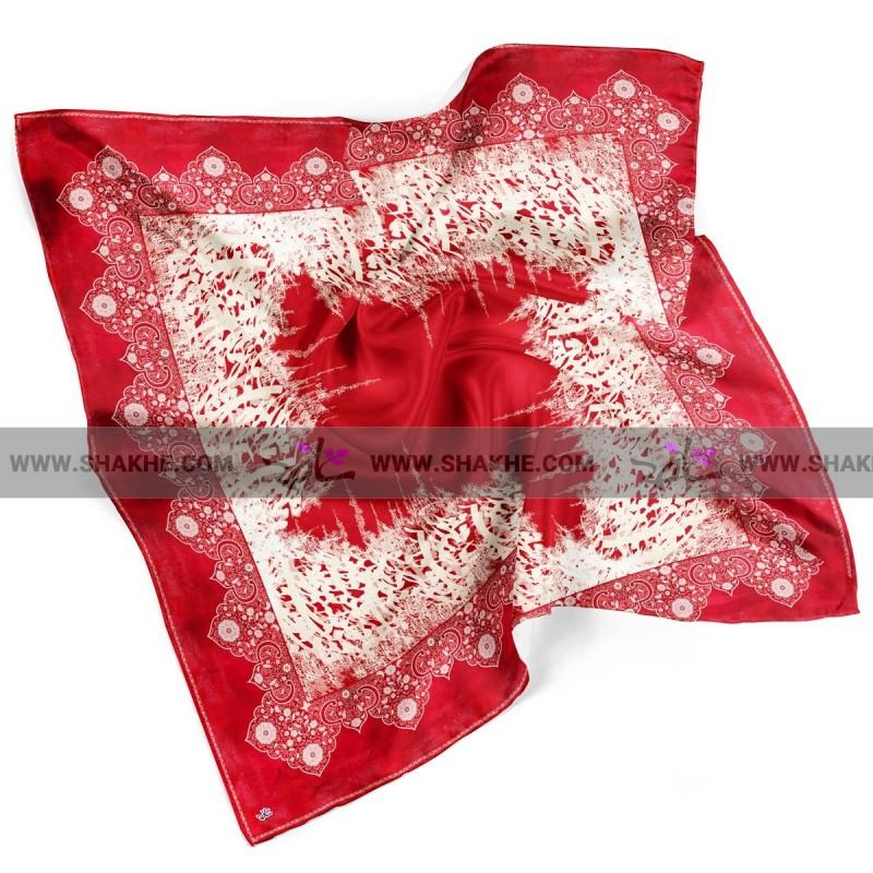 روسری نخی خط قرمز