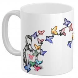 لیوان سرامیکی پروانه بانو
