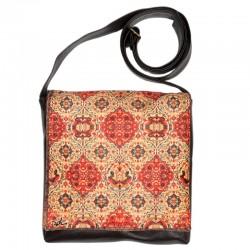 کیف چرمی خورجینی طرح فرش بندی