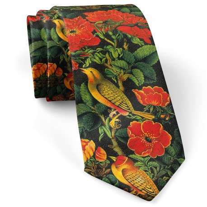کراوات گل و مرغ