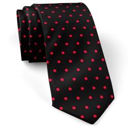 کراوات خال خال قرمز