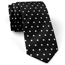 کراوات خال خال سفید