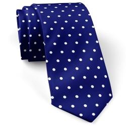 کراوات سرمه ای خال خال سفید