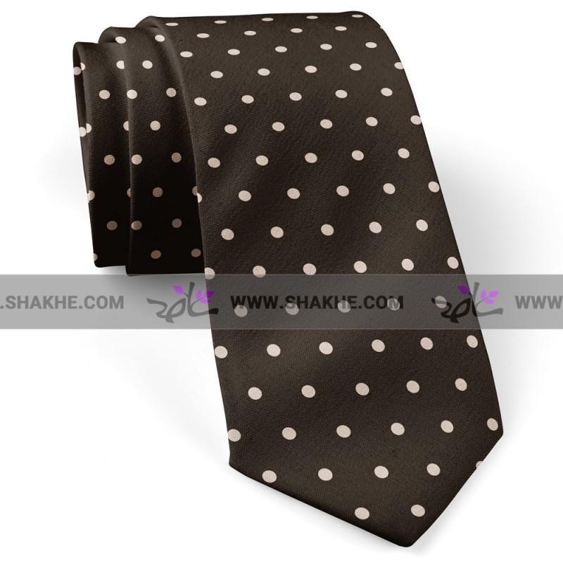 کراوات خال خال کرم