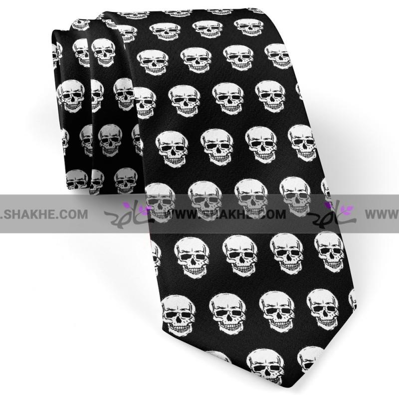 کراوات طرح جمجمه اسکلت