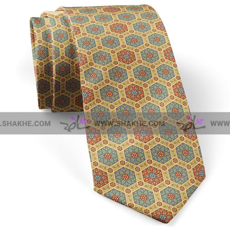 کراوات طرح شش ضلعی