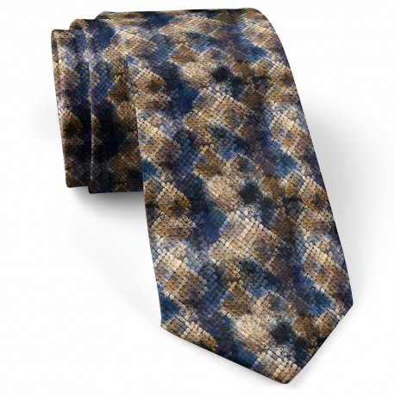 کراوات پوست ماری آبی نفتی