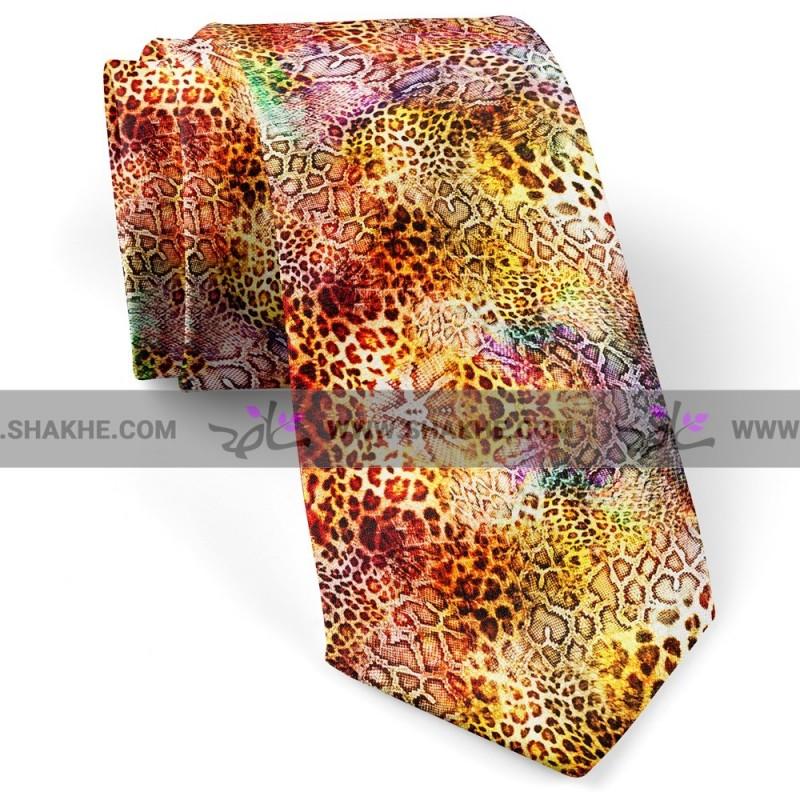 کراوات پلنگی رنگی
