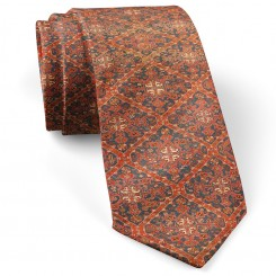 کراوات طرح فرش سرمه ای قرمز