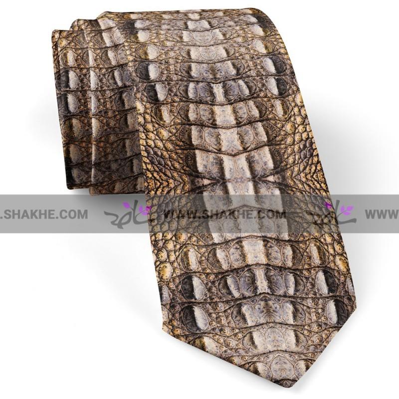 کراوات مردانه پوست سوسماری