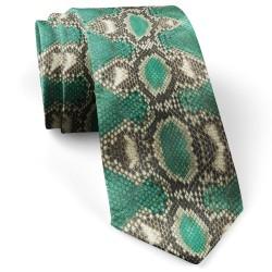 کراوات مردانه پوست ماری سبز