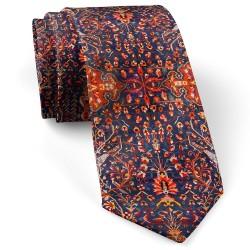 کراوات طرح فرش سرمه