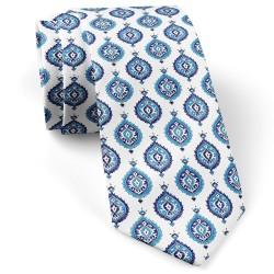 کراوات سفید آبی