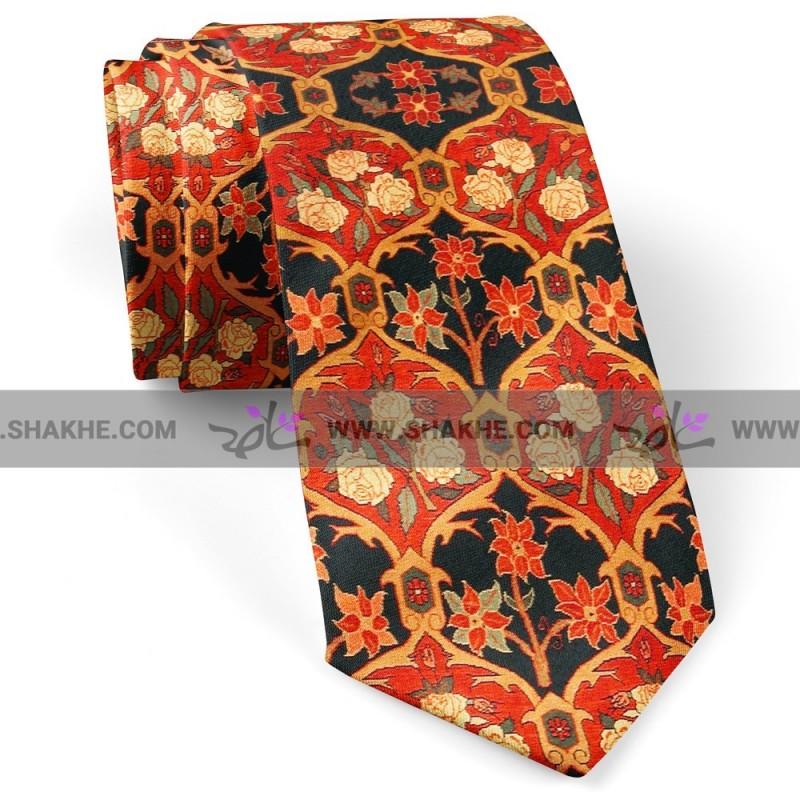 کراوات مردانه طرح فرش رز