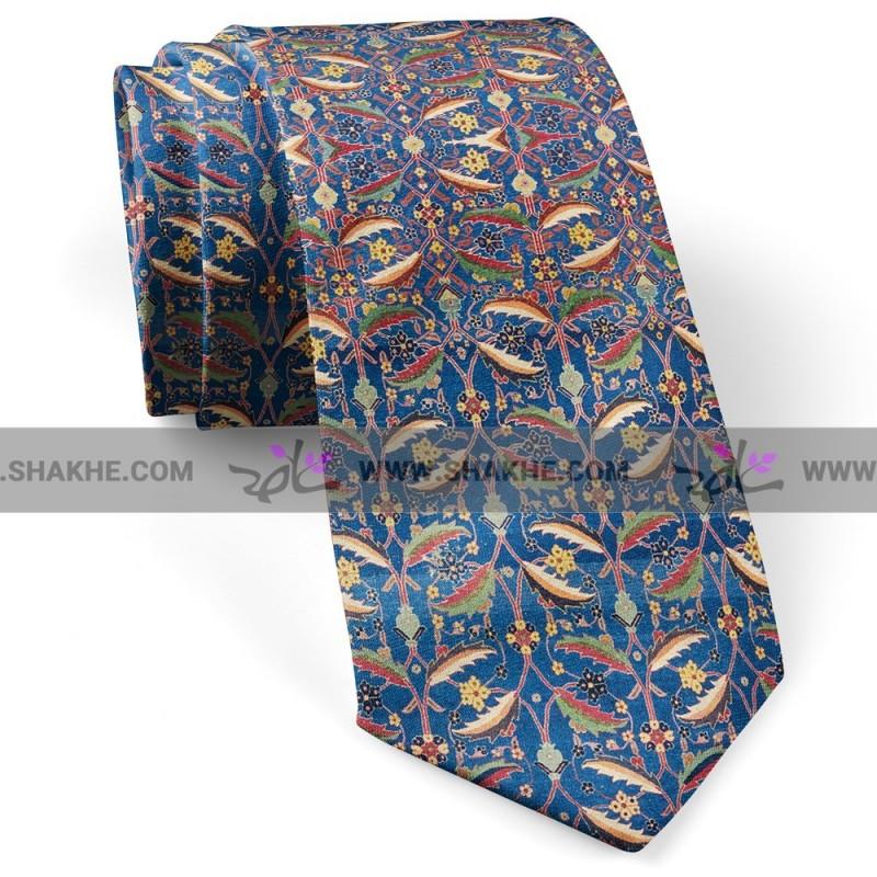 کراوات مردانه فرش سرمه ای برگ