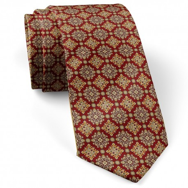 کراوات مردانه کلاسیک زرشکی