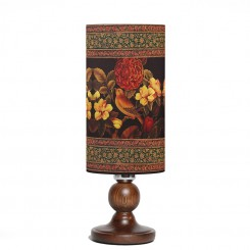 آباژور لیوانی گل مرغ پایه چوبی