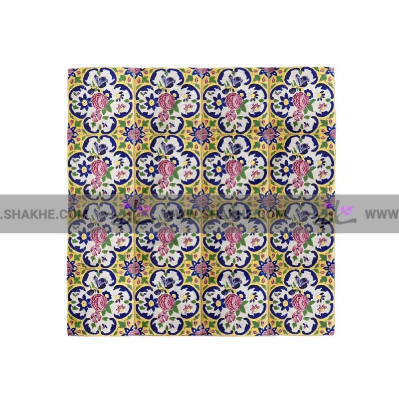 پوشت (دستمال جیب) کاشی زرد لوتوس