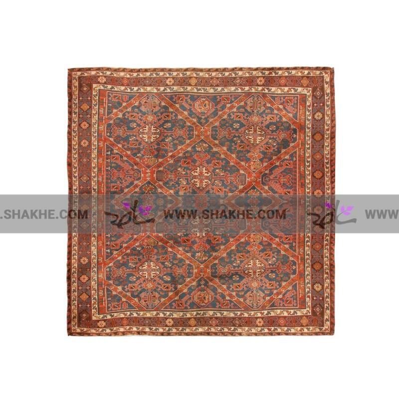 پوشت (دستمال جیب) طرح فرش سرمه ای قرمز