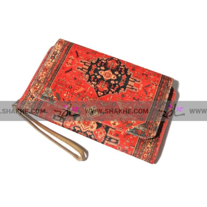 کیف کلاچ درب دار فرش ترنج