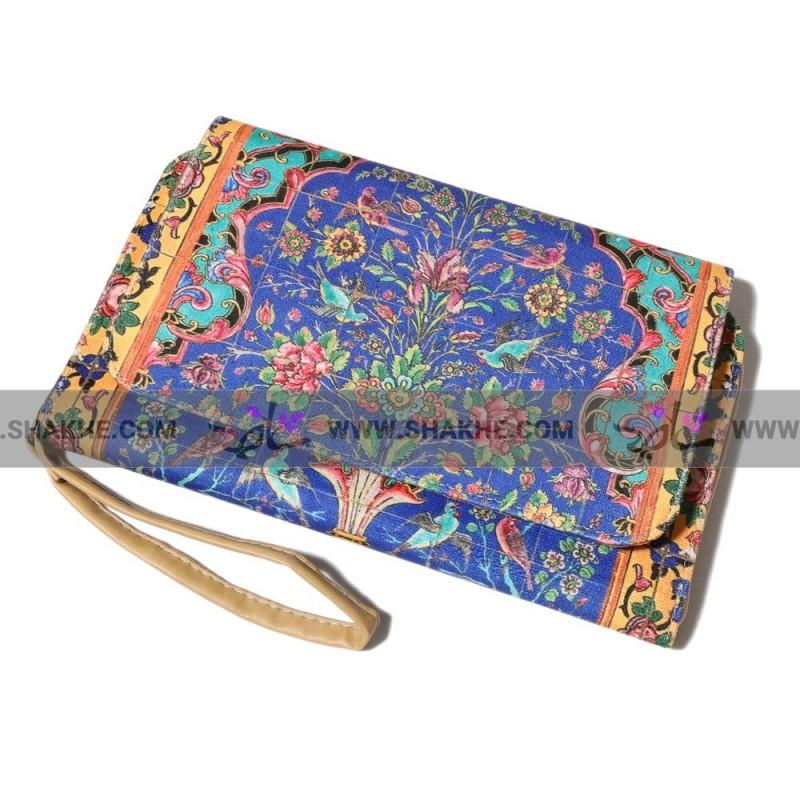 کیف کلاچ درب دار گل افشان