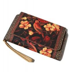 کیف کلاچ درب دار گل و مرغ
