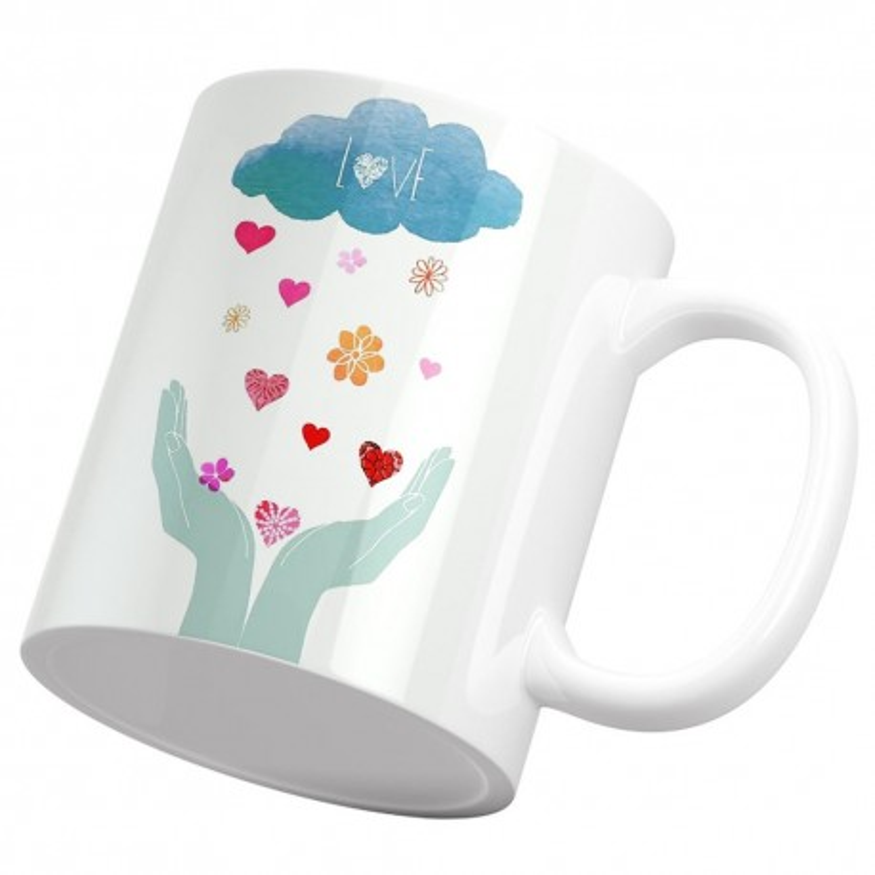 ماگ باران قلب