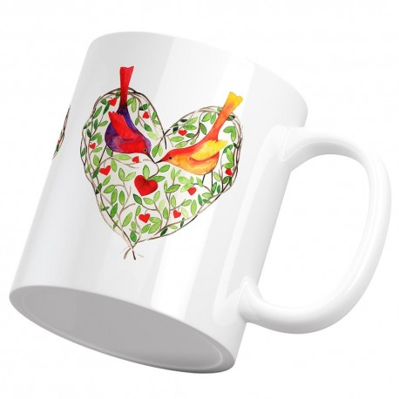 ماگ قلب مرغ عاشق