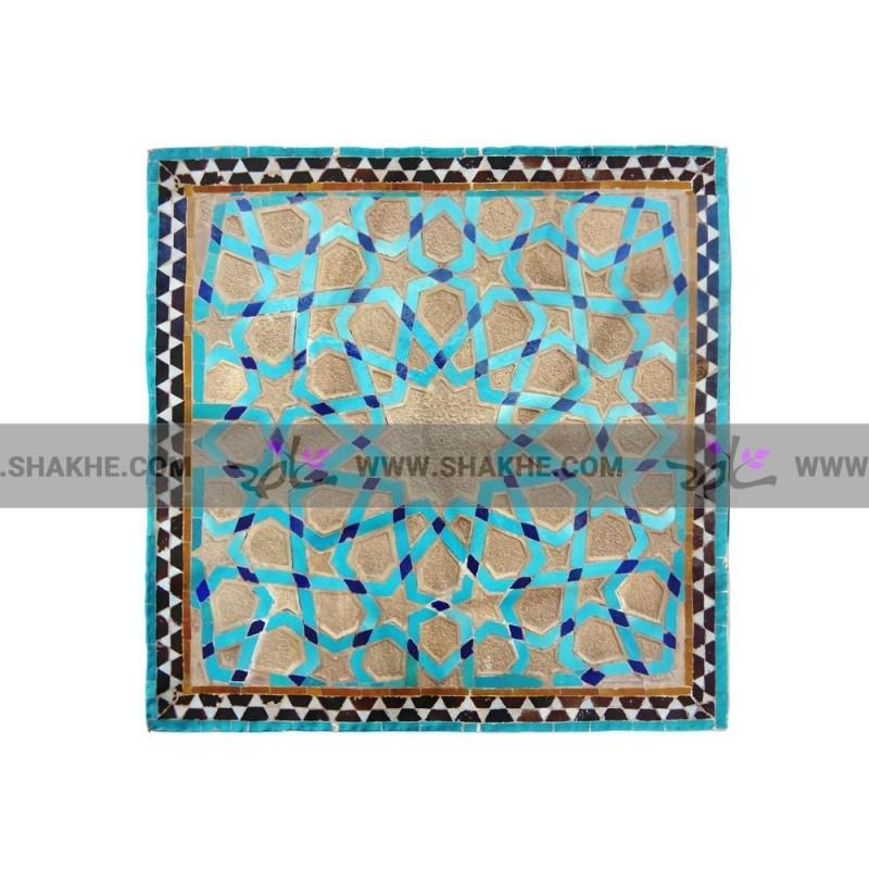 پوشت (دستمال جیب) کتیبه فیروزه