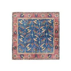پوشت (دستمال جیب) فرش سرمه ای برگ