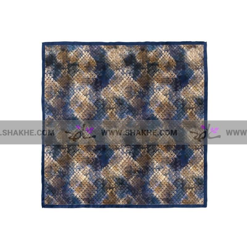 پوشت (دستمال جیب) پوست ماری آبی نفتی