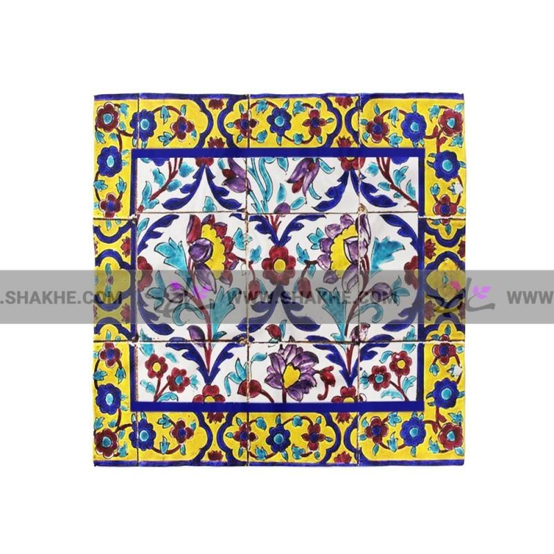 پوشت (دستمال جیب) کاشی آبرنگ