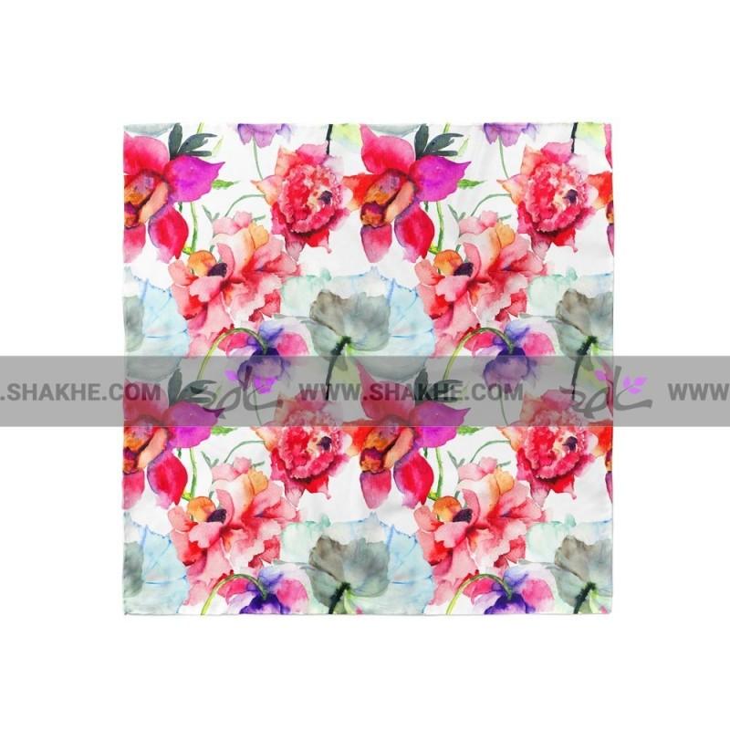 پوشت (دستمال جیب) گل آبرنگ