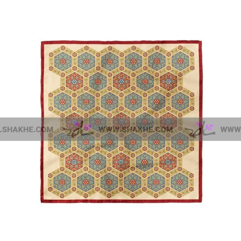 پوشت (دستمال جیب) طرح شش ضلعی