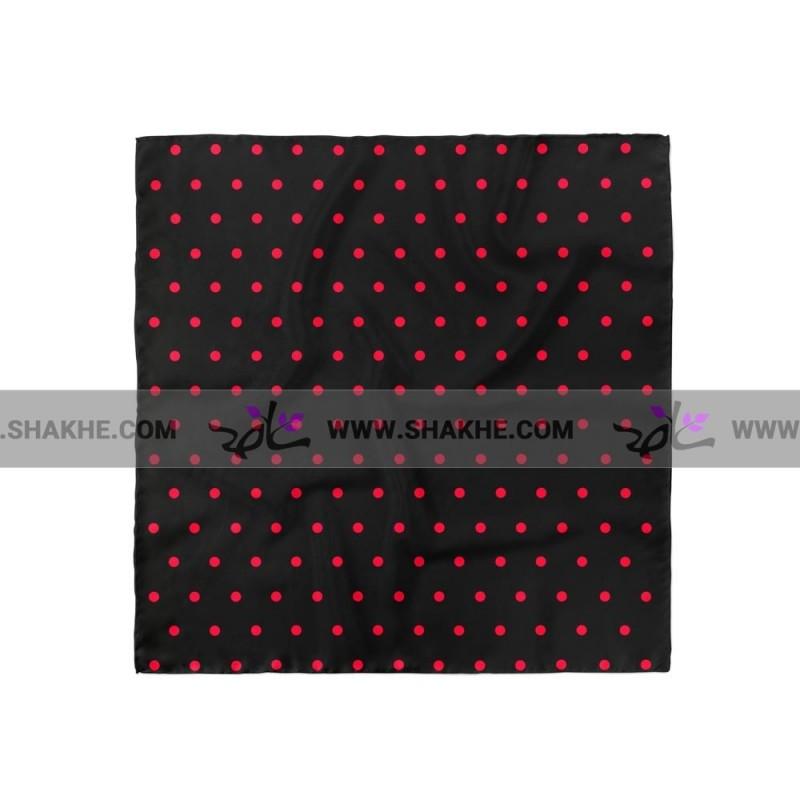پوشت (دستمال جیب) خال خال قرمز