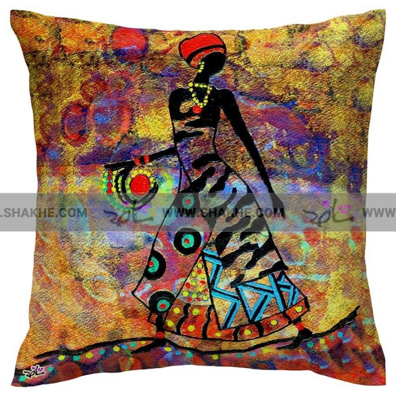 کوسن نقاشی زن افریقایی